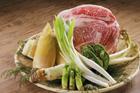 食材集合 牛肉と山菜