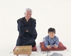 将棋板の祖父とゲーム機の孫