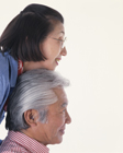 老夫婦の横顔