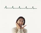 心電図と中高年女性