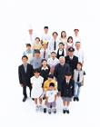 笑う俯瞰の日本の人々