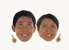 顔アップ合成イメージ・20代カップル