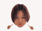 顔アップ合成イメージ・20代女性