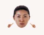 顔アップ合成イメージ・30代女性